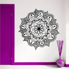 Wall Decals Vinyl Sticker Mandala by Wall Murals Decal Mandala Flower Vinyl Sticker Yoga Tattoo Boho
