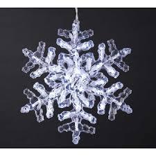 snowflake lights decor
