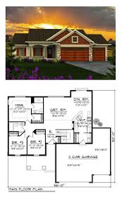ranch house plan 96120 total living area 1351 sq ft 3