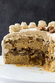 brown cake pecan pie layer cake spicy southern kitchen