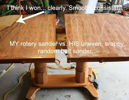 How To Refinish A Table Sand And Sisal - Sanding kitchen table