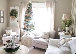 decorations white themed living room christmas decoration