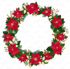 premium large poinsettia wreath clip 12 inch
