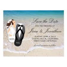 Wedding Postcards Custom Beach Wedding Postcards Zazzle Co Uk