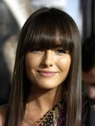 light brown long hairstyles with bangs for thin fine