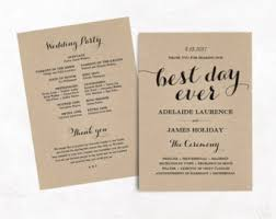simple wedding program template printable wedding program template rustic wedding fan