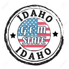 Idaho State Flag Printable Grunge Rubber Stamp With Flag And The Text Idaho Gem State