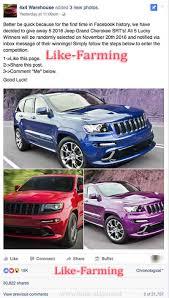 purple jeep cherokee jeep grand cherokee giveaway