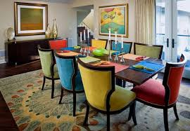 new colorful dining chairs with the colorful dining room tables
