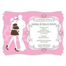 couples baby shower invitations silhouette couples baby shower it s a girl personalized baby