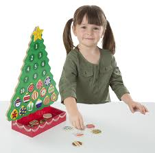 amazon com melissa u0026 doug countdown to christmas wooden advent