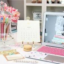 gorgeous desk decor with gold pink and navy decorating i love