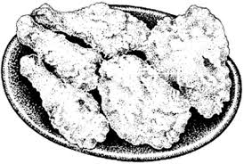 fried chicken plate coloring pages download u0026 print