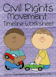 squarehead teachers civil rights timeline worksheet for kids