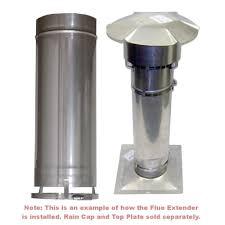 chimney flue extender for flexible chimney liner kits