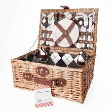 Picnic Basket Set For 2 Savisto Luxury 2 Person Wicker Picnic Basket With Full Picnic Set
