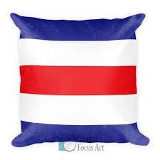 Lima Flag Nautical Flag Decorative Pillows Coastal Focus Art