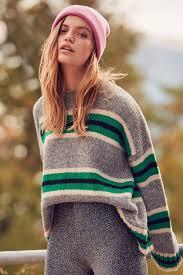 boyfriend sweaters uo oversized striped boyfriend sweater outfitters