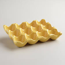 ceramic egg holder tray ceramic egg crate world market bought this to match my yellow