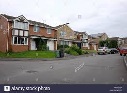 row of typically british houses from the late 20th century these