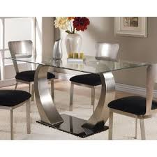 Glass Kitchen  Dining Tables Youll Love Wayfair - Kitchen glass table