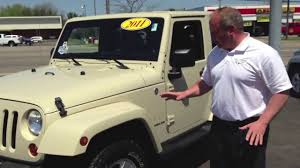 jeep soft top tan 2011 jeep wrangler 4x4 sahara pre ownded alliance canton oh