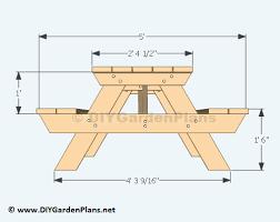 children s picnic table plans impressive furniture picnic table dimensions 790x1024 cute wood