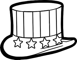 4th of july hat coloring page wecoloringpage