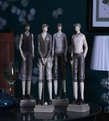 buy black resin golf team figurines set of 4 by v decor