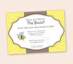unisex baby shower bumbe bee printable unisex baby shower invitation design