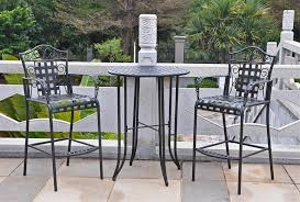 Black Bistro Table And Chairs Tall Outdoor Bistro Table Set Gccourt House