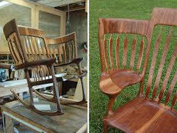 Wooden Rocking Chair Kids Dad Builds Triple Rocking Chair So He Could Read To His 3 Kids