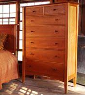 handmade natural cherry bedroom furniture sets real solid wood