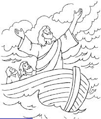 jesus calms the storm free coloring pages on art coloring pages