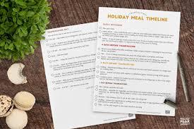 free thanksgiving dinner prep timeline thanksgiving 2016 is 4