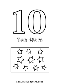 free numbers coloring pages thelittleladybird