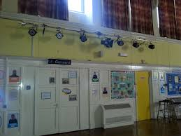 stage lighting mounting bars wall mounted lighting bar at the back of a hall with 6 x pro