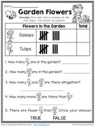 first grade graphing worksheets in all different levels that are