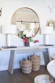 Entryway Table With Baskets Top 5 Tips For Your Home Feel Cozy And Inviting Rustic