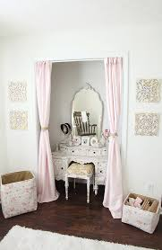 Closet Curtains Instead Of Doors Sweet A U0027s Antique French Inspired Nursery Vintage Vanity Closet