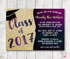 graduation invite printable graduation invitations glitter galaxy graduation invites