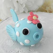 fish cake toppers baby puffer fish cake topper birthday or baby shower