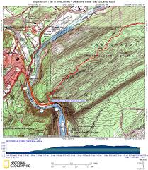 New York Appalachian Trail Map by At In New Jersey Sunfish Pond
