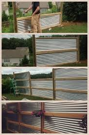 corrugated fence using metal building brackets 8ft spacing