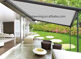 electric retractable rain roof waterproof pergola terrace awning