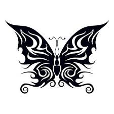 tribal bold butterfly temporary tattoo