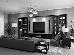 Grey And Black Living Room Home Design Ideas - Black living room decor