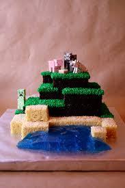 rice crispy minecraft cake sprite stitch