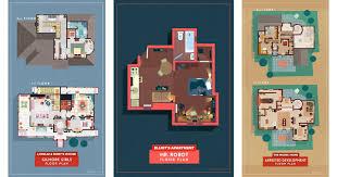 Tv Show Floor Plans by Architectural Watercolors By Maja Wronska Freeyork