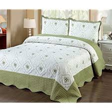 Quilted Bed Frame Fancy Linen 3pc Bedspread Quilted Bed Cover King